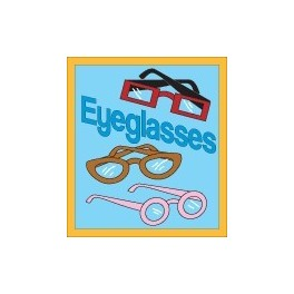 Eyeglasses fun patch