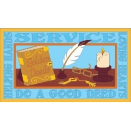 Service (Golden Book of Deeds)  fun patch