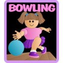 Bowling fun patch