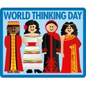 World Thinking Day (4 girls) fun patch