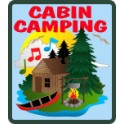 Cabin Camping fun patch