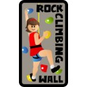 Rock Climbing Wall fun patch