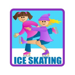 Ice Skating fun patch