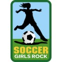 Soccer Girls Rock fun patch