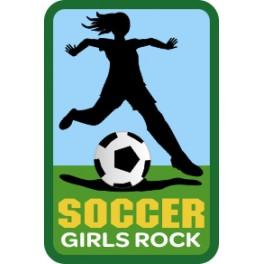 Soccer Girls Rock fun patch