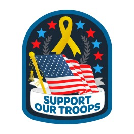 Support Our Troops (Flag) fun patch