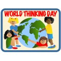 World Thinking Day (4 Girls & Globe)