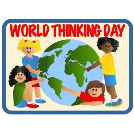 World Thinking Day (4 Girls & Globe)